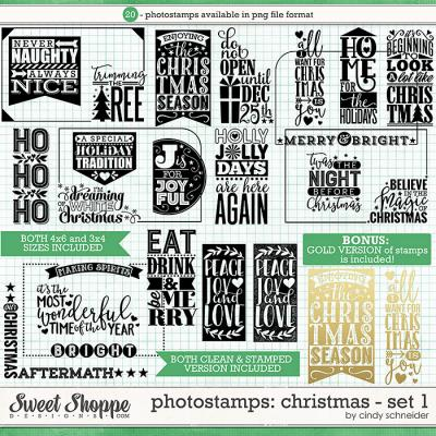 Cindy's Photostamps - Christmas: Set 1 by Cindy Schneider