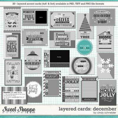 Cindy's Layered Cards - December Edition by Cindy Schneider