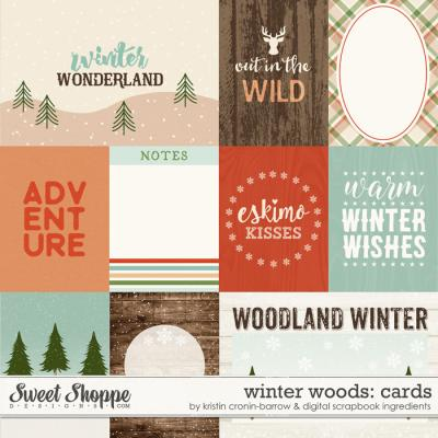Winter Woods: Cards by Kristin Cronin-Barrow & Digital Scrapbook Ingredients