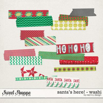 Santa's Here! - Washi Tape - by Red Ivy Design