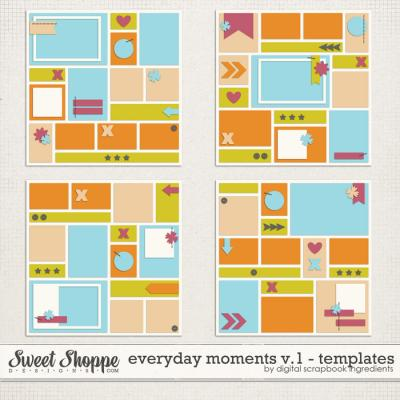 Everyday Moments Templates Vol.1 by Digital Scrapbook Ingredients