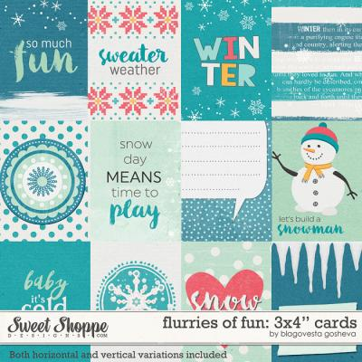 Flurries of fun {cards} by Blagovesta Gosheva