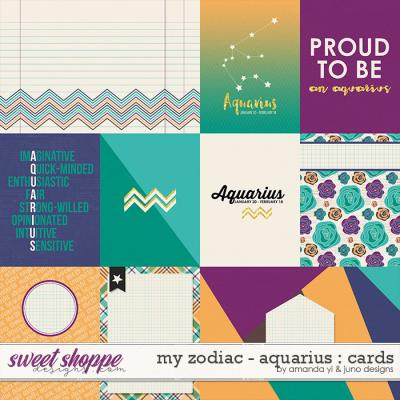 My Zodiac - Aquarius : Cards by Amanda Yi & Juno Designs