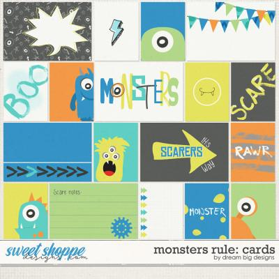 Monsters Rule: Cards by Dream Big Designs