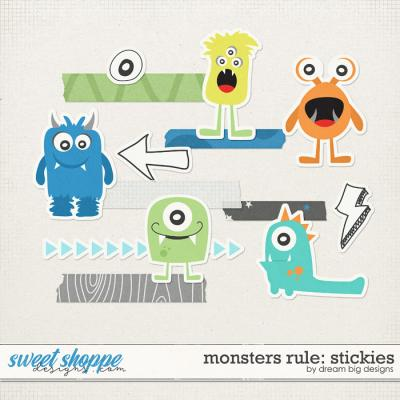 Monsters Rule: Stickies by Dream Big Designs