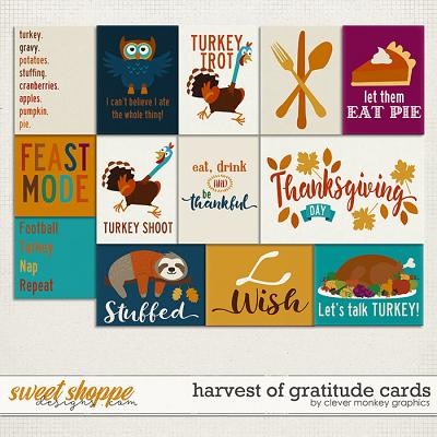 Harvest of Gratitude Cards by Clever Monkey Graphics