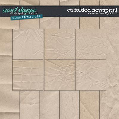 CU Folded Newsprint Papers by Clever Monkey Graphics