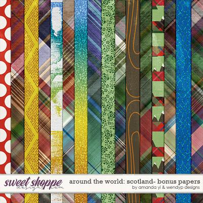 Around the world: Scotland - Bonus papers by Amanda Yi and WendyP Designs