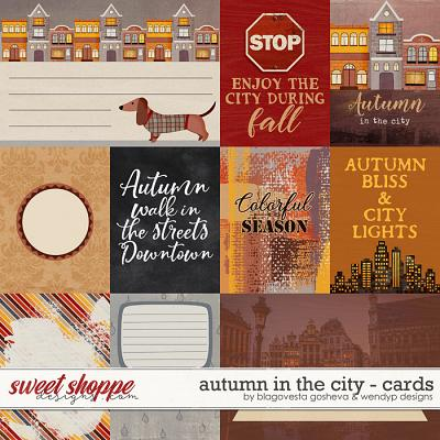 Autumn in the city {cards} by Blagovesta Gosheva & WendyP Designs