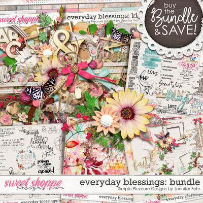 everyday blessings bundle: Simple Pleasure Designs by Jennifer Fehr