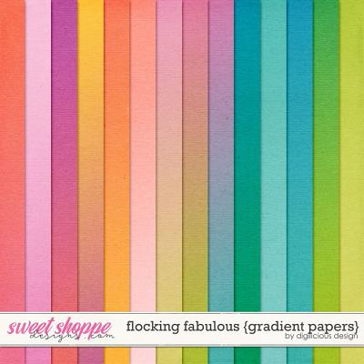 Flocking Fabulous {Gradient Papers} by Digilicious Design