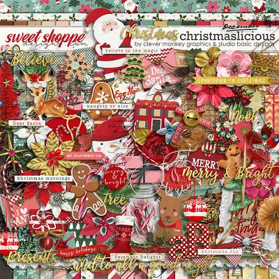 Christmaslicious Kit by Clever Monkey Graphics and Studio Basic Designs