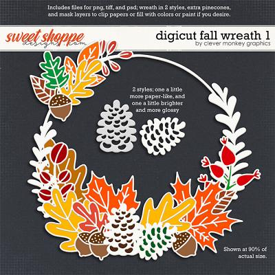 Digicut Fall Wreath 1 by Clever Monkey Graphics