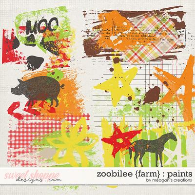 Zoobilee {Farm} : Paints by Meagan's Creations