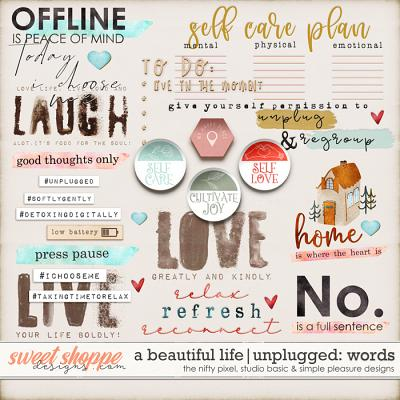 A Beautiful Life: Unplugged Wordys by Simple Pleasure Designs & Studio Basic & The Nifty Pixel