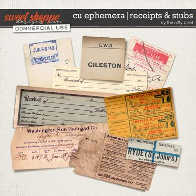 CU EPHEMERA | RECEIPTS & STUBS by The Nifty Pixel