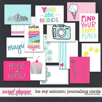 Be My Unicorn: Journaling Cards by Janet Phillips