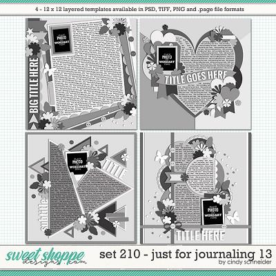 Cindy's Layered Templates - Set 210: Just for Journaling 13 by Cindy Schneider