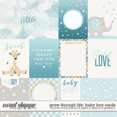 Grow Through Life - Baby Boy | Cards by Kristin Cronin-Barrow & Digital Scrapbook Ingredients