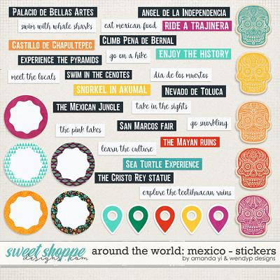 Around the world: Mexico - Stickers by Amanda Yi & WendyP Designs