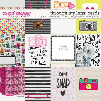 Through My Lens Cards by Jenn Barrette, Studio Basic Designs and Little Butterfly Wings