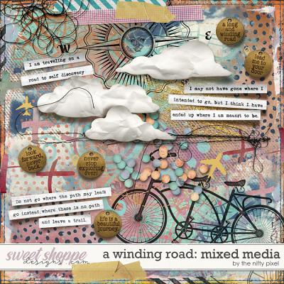 A WINDING ROAD | MIXED MEDIA by The Nifty Pixel