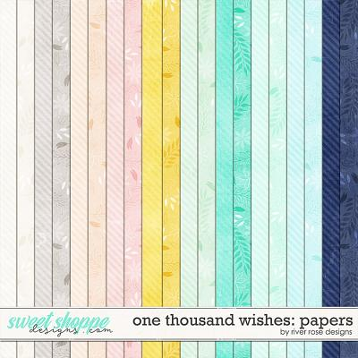One Thousand Wishes: Papers by River Rose Designs