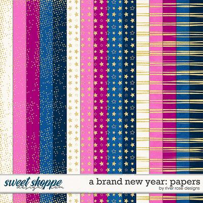 A Brand New Year: Papers by River Rose Designs