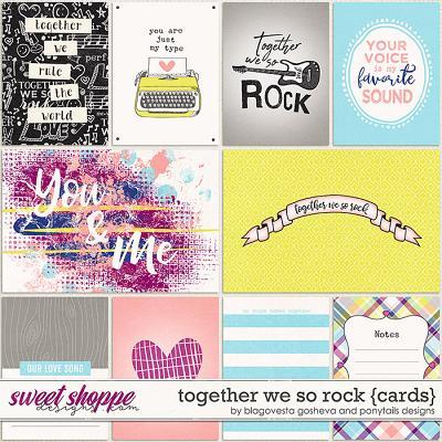 Together we so rock {cards} by Blagovesta Gosheva & Ponytails Designs