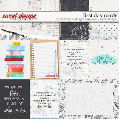 First Day Cards by Studio Basic and Micheline Lincoln Designs