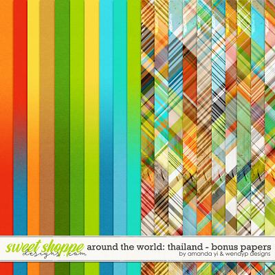 Around the world: Thailand - Bonus Papers by Amanda Yi & WendyP Designs