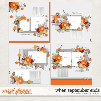 When September Ends Layered Templates by Southern Serenity Designs