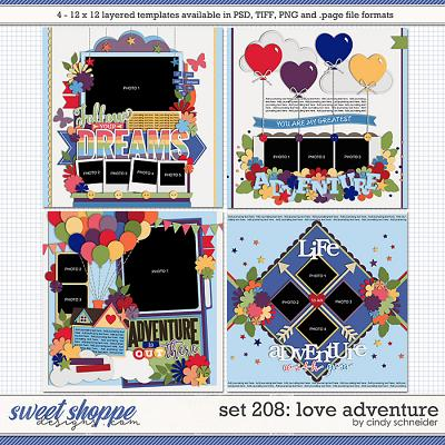 Cindy's Layered Templates - Set 208: Love Adventure by Cindy Schneider