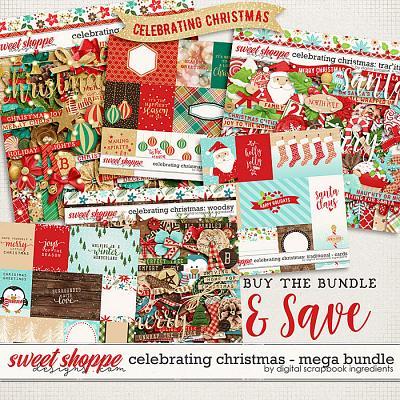 Celebrating Christmas: Mega Bundle by Digital Scrapbook Ingredients