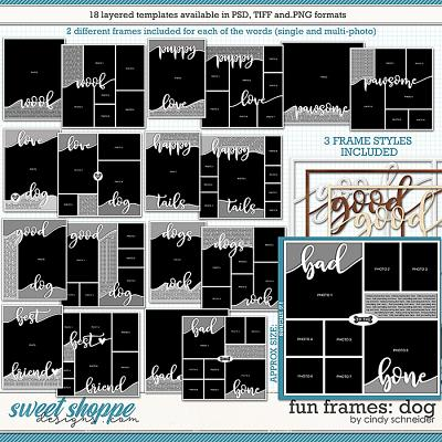 Cindy's Layered Templates - Fun Frames: Dog by Cindy Schneider