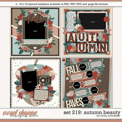 Cindy's Layered Templates - Set 219: Autumn Beauty by Cindy Schneider