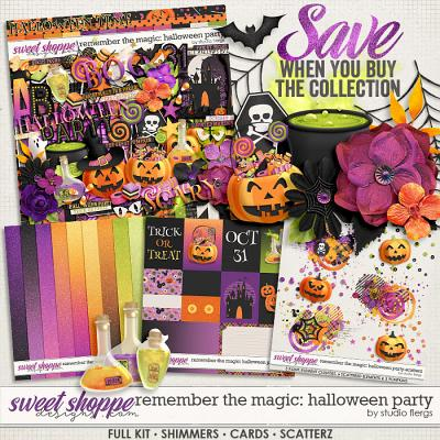 Remember the Magic: HALLOWEEN PARTY- COLLECTION & *FWP* by Studio Flergs