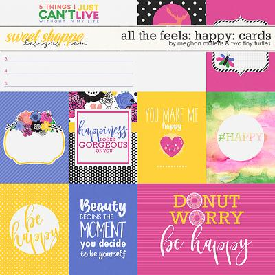 All The Feels: Happy-Project Cards by Two Tiny Turlles & Meghan Mullens