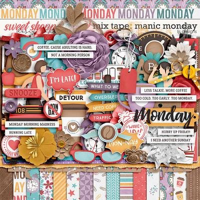 *FREE with your $10 Purchase* Manic Monday by LJS Designs