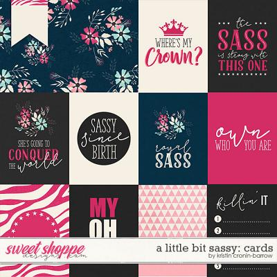 A Little Bit Sassy: Cards by Kristin Cronin-Barrow