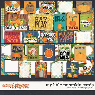 My Little Pumpkin Cards by Clever Monkey Graphics