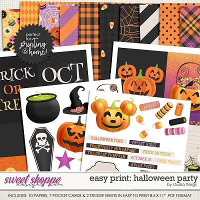 Remember the Magic: HALLOWEEN PARTY- EZPRINT by Studio Flergs