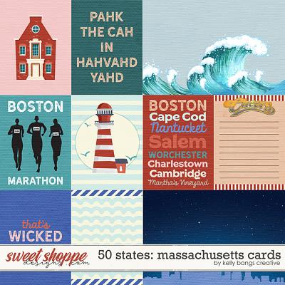 50 States: Massachusetts Cards by Kelly Bangs Creative
