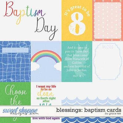 Blessings: Baptism Cards by Grace Lee