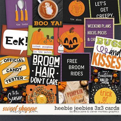 Heebie Jeebies: 3x3 Cards by Erica Zane & Clever Monkey Graphics