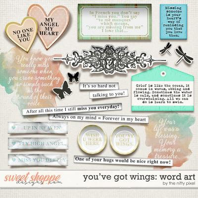 YOU'VE GOT WINGS | WORD ART by The Nifty Pixel