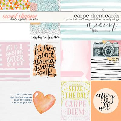 Carpe Diem Cards by Studio Basic and Little Butterfly Wings