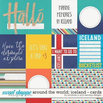 Around the world: Iceland - cards by Amanda Yi & WendyP Designs