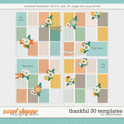 Thankful 30 [Templates] by Crystal Livesay
