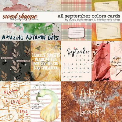 All September Colors Cards by Studio Basic and Little Butterfly Wings